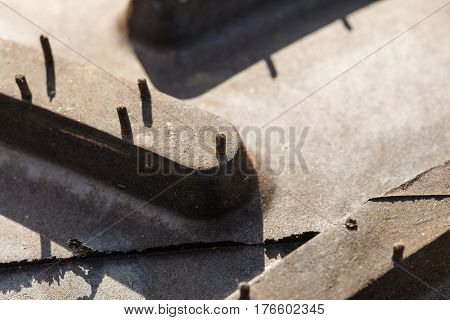 Detailed Closeup Of Rubber Tire Surface