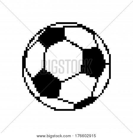 Soccer Ball Pixel Art. Football Pixelated Isolated On White Background