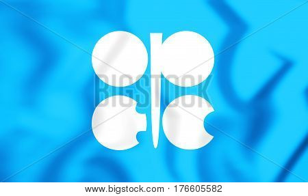 3D Flag Of The Opec. 3D Illustration.