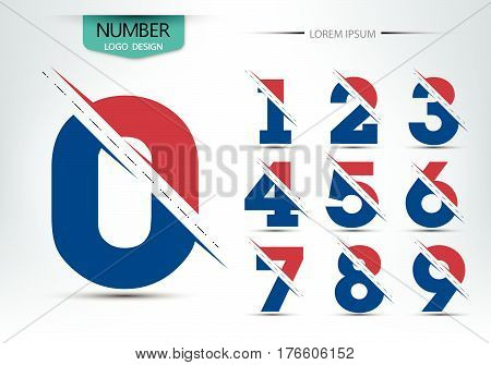 Set Of Numbers Logo Or Icon, For Happy New Year Concept