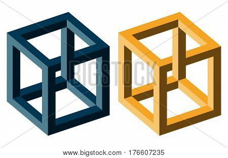 Optical Illusion Blue And Yellow