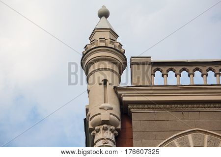Tower at the roof of the building in the classical style