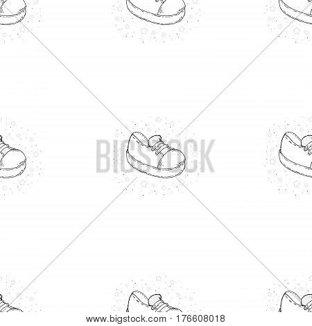 Vector Sketch Illustration Pair of Skaters Shoes. Vector seamless pattern