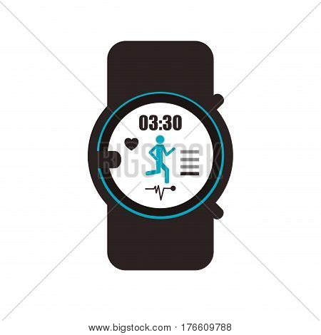 sport watch icon over white background. colorful design. vector illustration