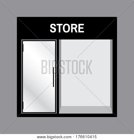 Shop front or store front view illustration. Store front mock up