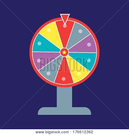 Wheel of fortune illustration. Wheel of fortune logo