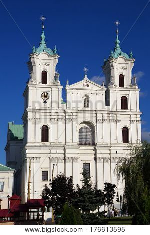 Roman Catholic St. Francis Xavier's cathedral Grodno Belarus.