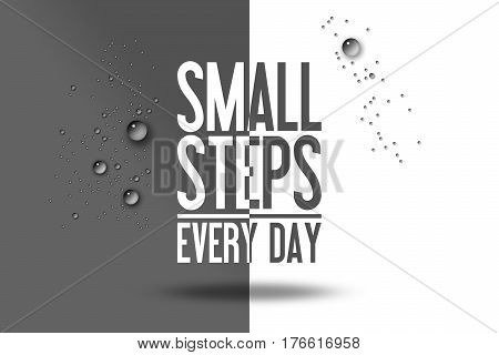 Small Steps Every Day Workout Advertising Quote