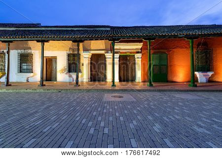 Colonial Architecture At Night