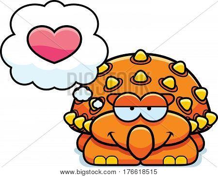 Little Ankylosaurus In Love