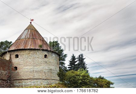 Old fortress in the North in Lake Ladoga