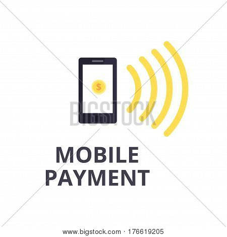 Mobile Payment vector isolated Icon. Mobile money transfer and Contactless payment concept.