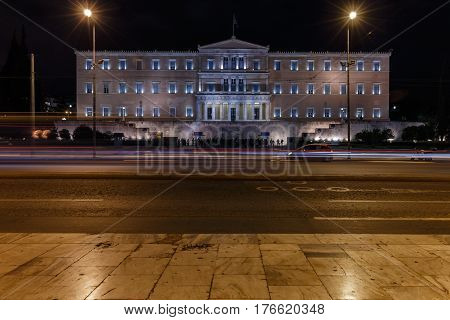 The Hellenic Parliament in Athens - Syntagma Square