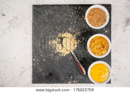 Selection Of 4 Kinds Of Mustard