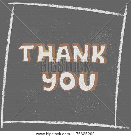 Thank You Hand lettering handmade calligraphy. Creative concept vector design layout with text - thank you. For web and mobile icon isolated on background,  template, retro elements, logo, labels, badge.