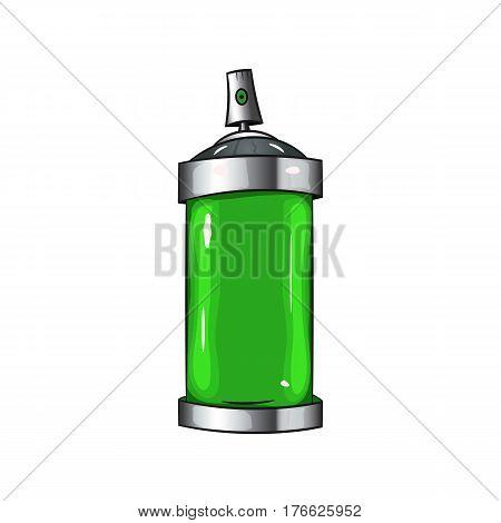 sprays with green paint. spray paint - vector
