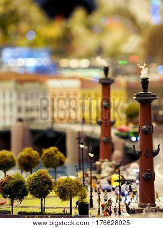 A miniature model of the Rostral Columns in St Petersburg Russia.