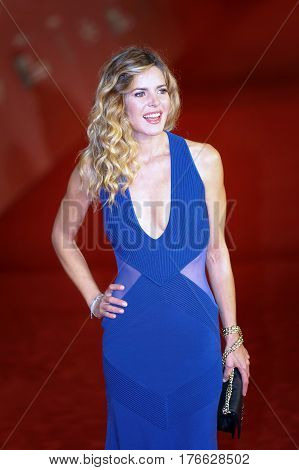 Rome Italy - October 13 2016: Elisabetta Pellini walks a red carpet for