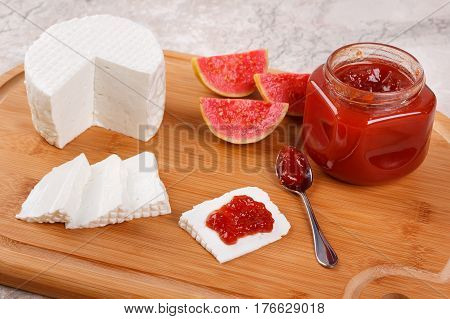 Brazilian Dessert Romeo And Juliet, Goiabada Jam Of Guava And Cheese