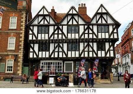 Lincoln Uk - July 1 2016: Leigh-pemberton House A Historic House Located On Castle Square. It Is A H