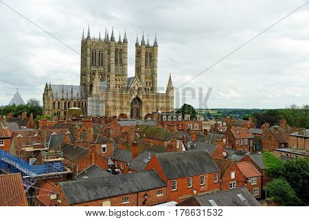Lincoln Cathedral Or The Cathedral Church Of The Blessed Virgin Mary Of Lincoln The Seat Of The Angl