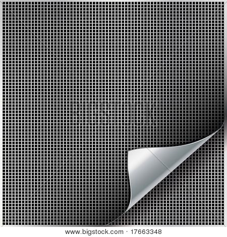 Metal backgrounds with curved corner. poster