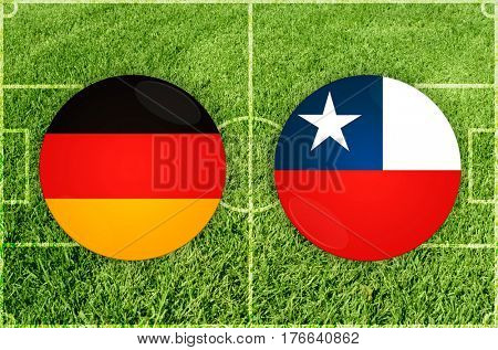 Confederations Cup football match Germany vs Chile