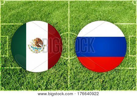 Confederations Cup football match Mexico vs Russia