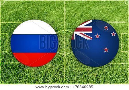 Confederations Cup football match Russia vs New Zealand