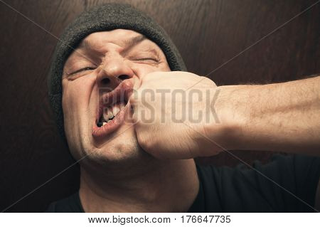Strong Fist Punching The Face, Fight