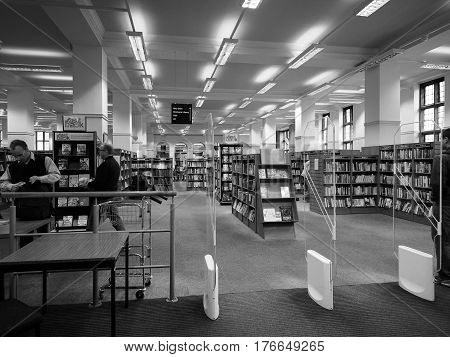 Central Library In Bristol In Black And White
