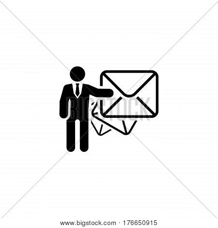 Email Marketing Icon. Flat Design. Business Concept Isolated Illustration