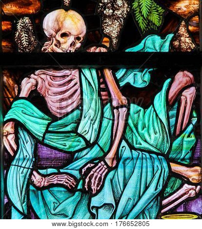 Stained Glass - Skeleton