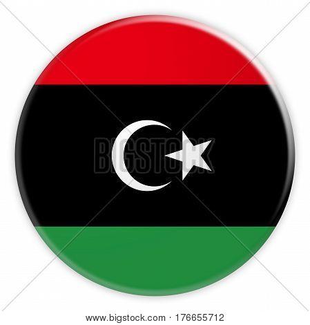 Libya Flag Button News Concept Badge 3d illustration on white background