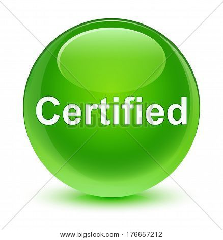 Certified Glassy Green Round Button