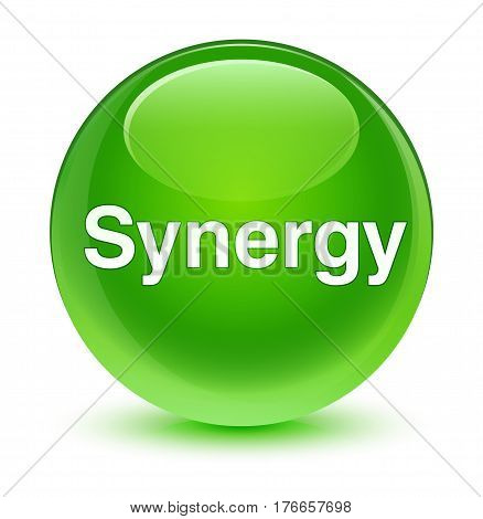 Synergy Glassy Green Round Button