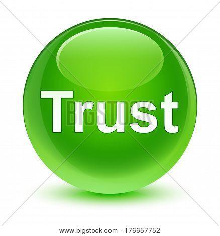 Trust Glassy Green Round Button
