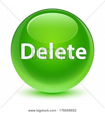 Delete Glassy Green Round Button