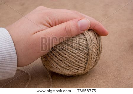 Spools Of Thread In Hand Isolated
