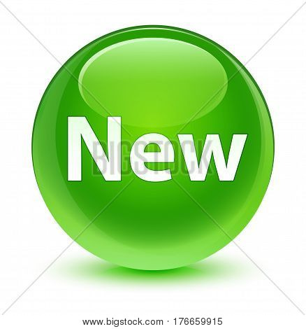 New Glassy Green Round Button