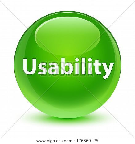 Usability Glassy Green Round Button