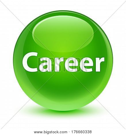 Career Glassy Green Round Button