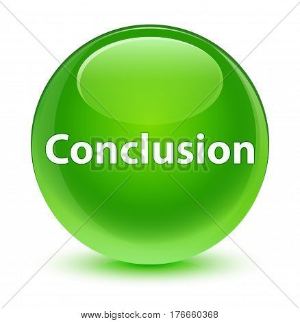 Conclusion Glassy Green Round Button
