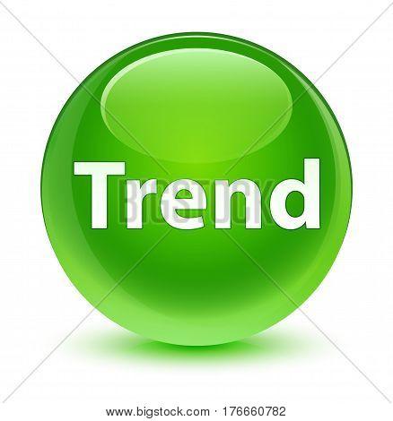 Trend Glassy Green Round Button