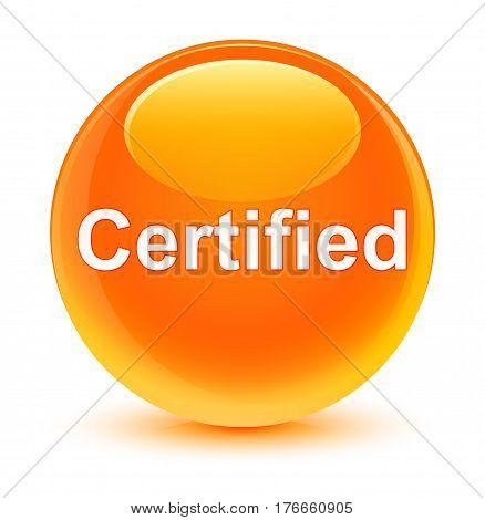 Certified Glassy Orange Round Button