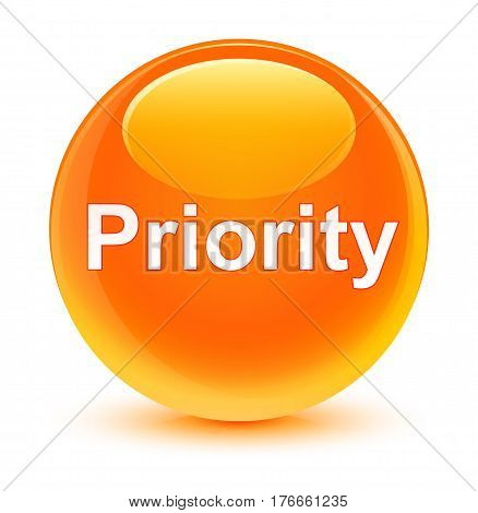 Priority Glassy Orange Round Button