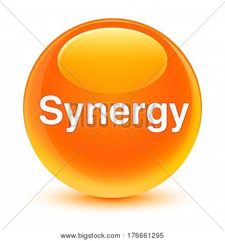 Synergy Glassy Orange Round Button