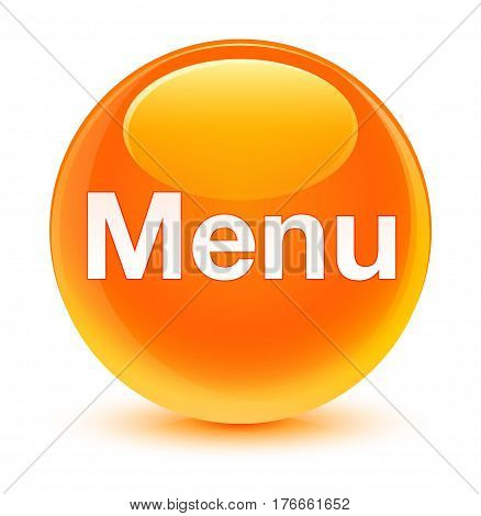 Menu Glassy Orange Round Button