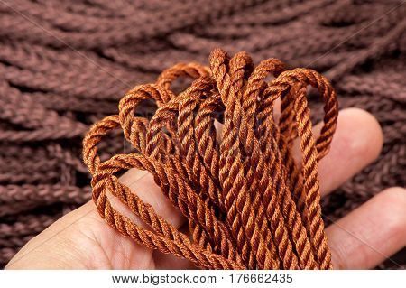 Closeup Polyester Rope