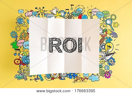 Roi Text With Colorful Illustrations